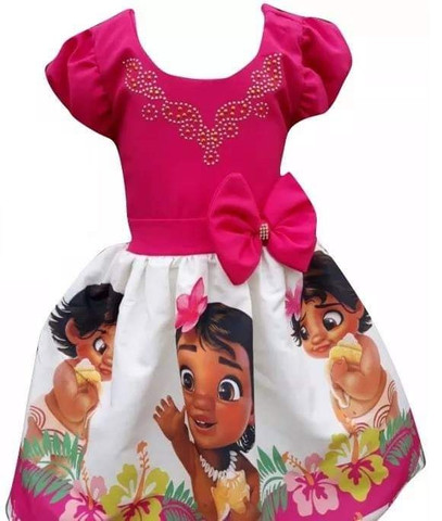 Vestido Moana Baby tamanho 6