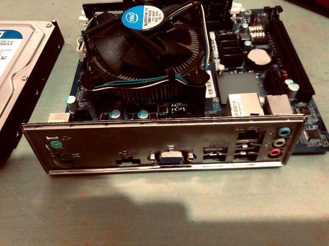 Kit placa mãe 1151+processador i3 6100+memoria ddr4 de 8gigas+hd wd 7200 de 500 gigas - Foto 4