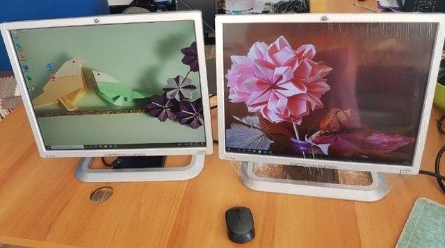 """Monitor 20"""" altura regulável também pode ser usado na vertical - Foto 2"""