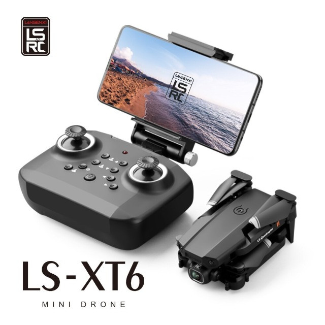 Mini Drone Dobrável Lsrc LS-XT6  WiFi Fpv Câmera 1080P HD 12 mins de Vôo