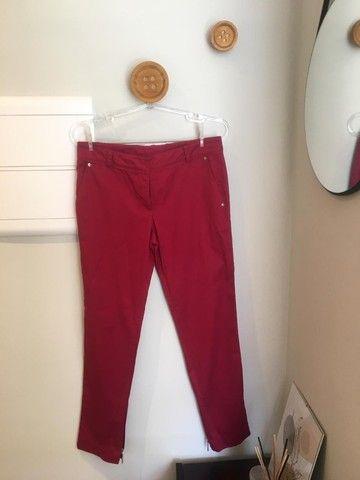 Calça vermelho cereja Le Lis Blanc TAM 38 usada