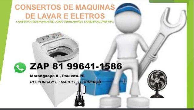 Conserto e manutenção em máquinas de lavar roupas, refrigeradores, microondas e eletros