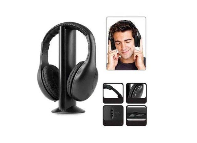 Earphone  5x1 Sem Fio Hi-fi Bluetooth Headphone, Tv, Rádio, novo na caixa e sem uso