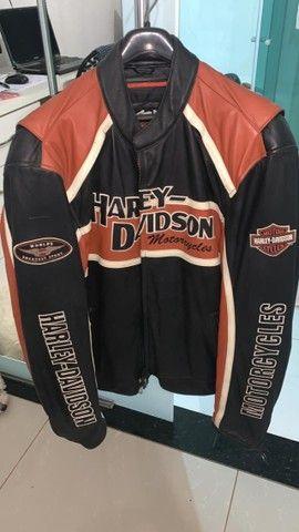 Jaqueta de Couro Masculina Harley Davidson