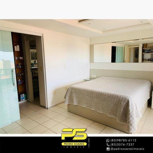 (MOBILIADO) Apartamento com 3 dormitórios para alugar, 166 m² por R$ 6.000/mês - Tambaú -  - Foto 9