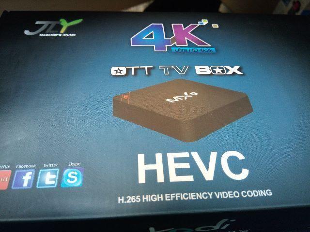Tv Box MX9 4K Android 7.1 Smart. Sky, Full-HD. Sua tv comum como uma Smart TV