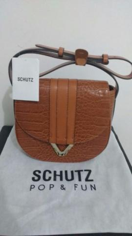Bolsa Schutz / Mini Crossbody V Croco Wood
