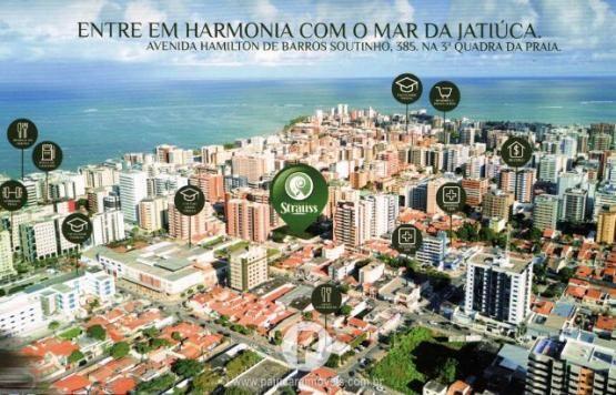 Quarto sala c/ varanda ÷ em 100 meses a 400m da Praia de Jatiúca