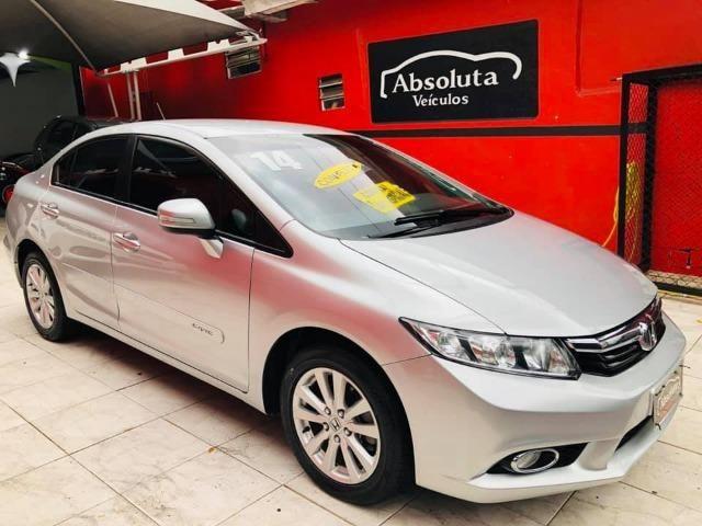 Honda Civic 2014 lxr automático + kit multimídia, carro impecável !!! - Foto 4