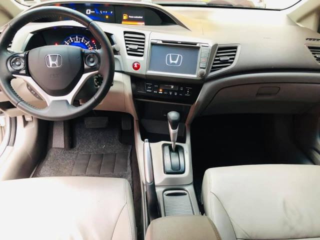 Honda Civic 2014 lxr automático + kit multimídia, carro impecável !!! - Foto 3