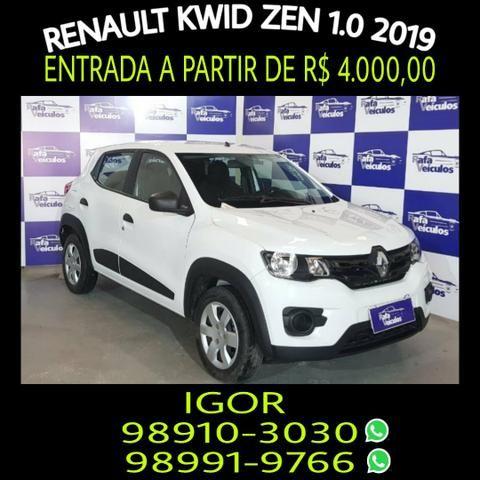 Renault Kwid Zen 1.0 FLEX 2019, falar com Igor