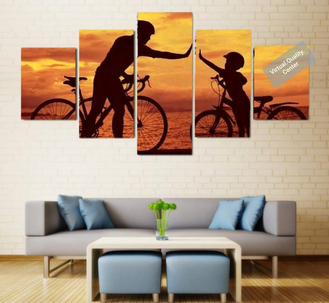 Quadro Mosaico Decorativo Personalizado Mosaico 5 Peças - Ciclismo - Foto 2