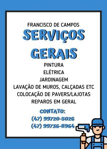 Serviços gerais - Francisco de Campos