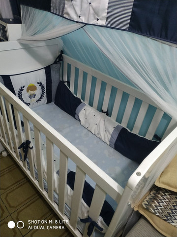 Berço + colchão + kit berço ( menino)