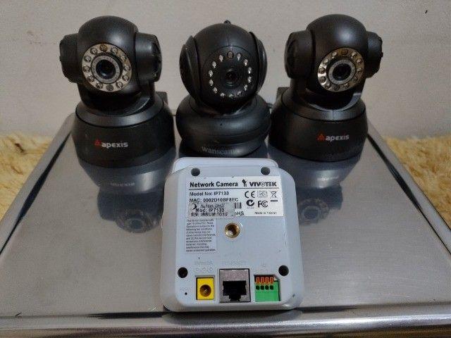 Lote Com 5 Câmeras de Segurança Preço Pra Vender Rápido Em Perfeitas Condições - Foto 2