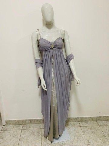 Vestido longo prata e cinza - Foto 4