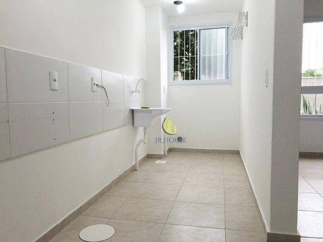 Apartamento com 2 dormitórios para alugar, 56 m² por R$ 800,00/mês - Santa Fé - Gravataí/R - Foto 3
