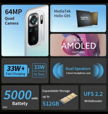 Celular Xiaomi Redmi note 10S 6ram  128gb Lançamento+garantia+ Brinde  - Foto 6