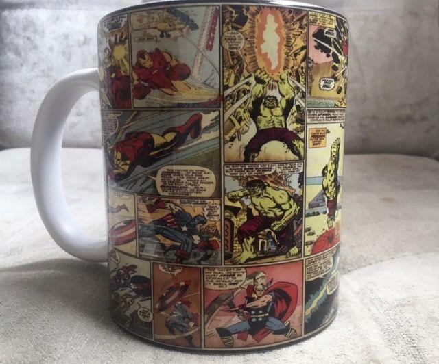 Caneca Marvel quadrinhos porcelana 325ml - Foto 3