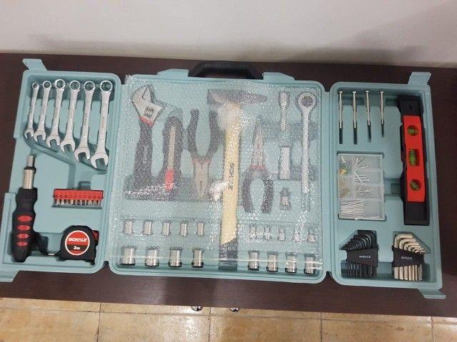Kit De Ferramentas Com Maleta Dobrável 160 Peças - Schulz - Foto 3
