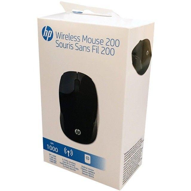 Mouse Sem Fio 1000 DPI Preto HP 200 - Loja Dado Digital - Foto 3