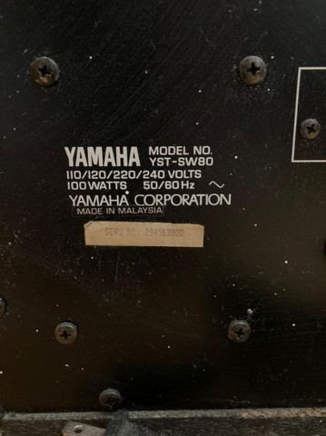 Subwoofer Yamaha - YST-SW80 - Foto 2