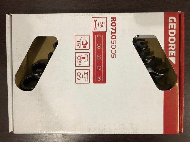 Jogo de Chave Combinada com Catraca 8 - 19 mm com 5 Peças - Gedore - Foto 6