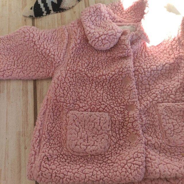 Casaco de pelúcia menina 1 ano - Foto 2