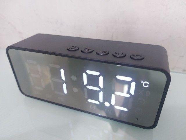Relogio, Caixa de som, bluetooth e despertador - Foto 3