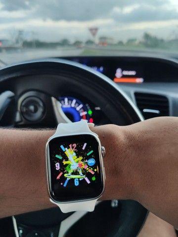 Smartwatch Pulseira inteligente Completa 44mm Bluetooth - Foto 6