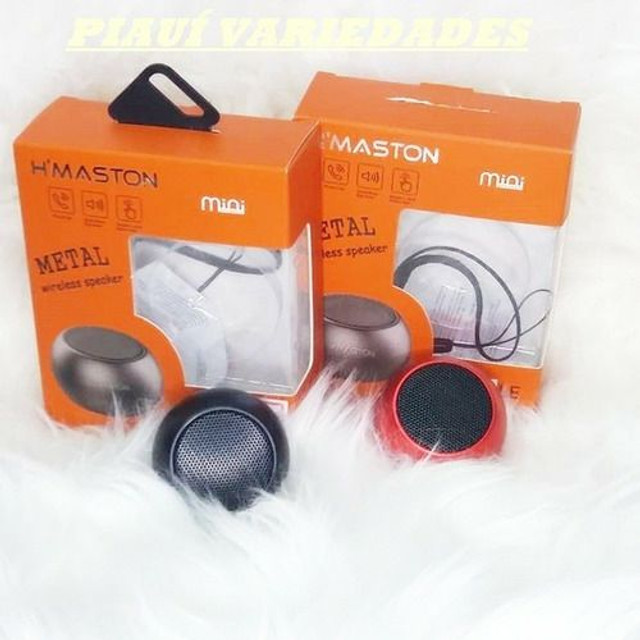 Mini Caixa de Som Bluetooth 3w H'maston Metal - Foto 2
