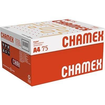 Caixa de Papel A4 Chamex 75g  com 10 Resmas de 500fls