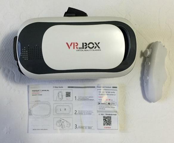 Óculos de Realidade Virtual VR 3D 360 Graus Box com Controle Original Novo  na Caixa 7af3b70f87