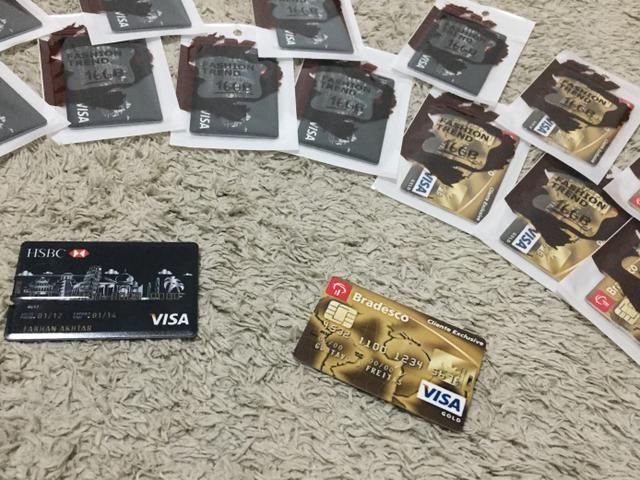 Pendrive 16 gb personalizado modelo cartão de crédito novo