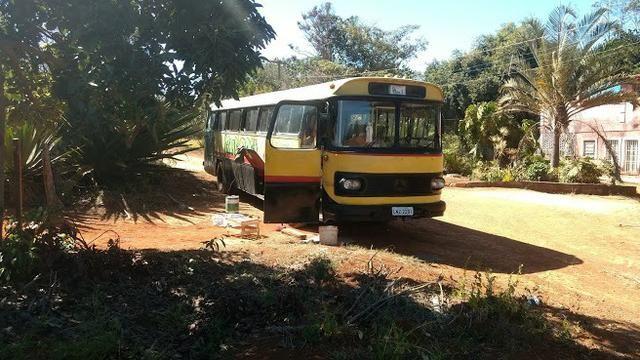 Ônibus Monobloco, mecânica ok e pneus novos - Troco por Van ou Carro do meu interesse - Foto 8