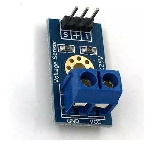 COD-AM114 Módulo Sensor De Tensão Dc 0 A 25v Arduino Automação Robotica - Foto 3