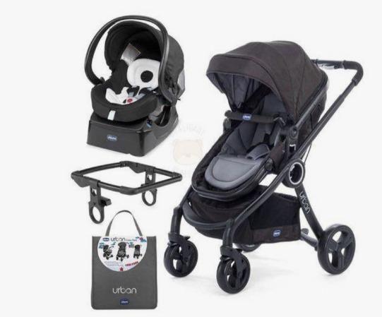 Carrinho de bebê Urban Chicco+ bb conforto + adaptador + Color Pack - Completíssimo