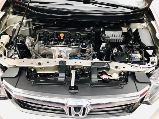 Honda Civic 2014 lxr automático + kit multimídia, carro impecável !!! - Foto 16