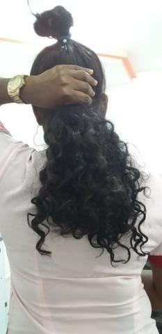 Vendo 300 gramas de cabelo humano brasileiro cacheado