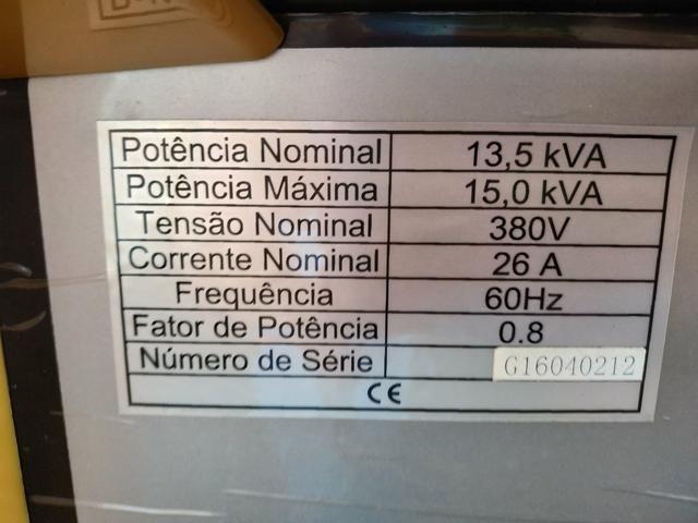 Motogerador diesel trifásico 380v/220v 15.000 buffalo potência máxima 15,0 kva - Foto 2