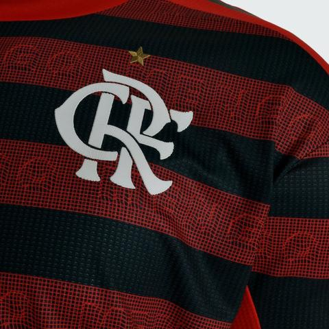 Camisa Flamengo I 19/20 s/nº Torcedor c/ Patrocínio Adidas Masculina - Foto 3