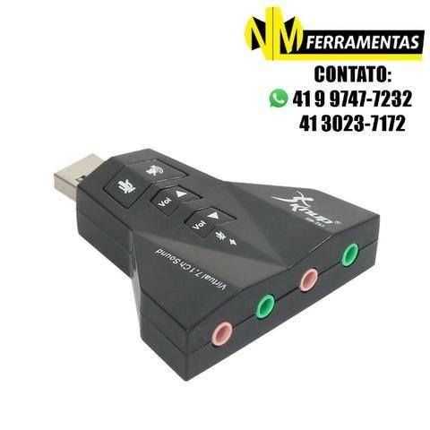 Adaptador Placa De Som 7.1 Usb 2.0 P2 P/ Fone/microfone Knup