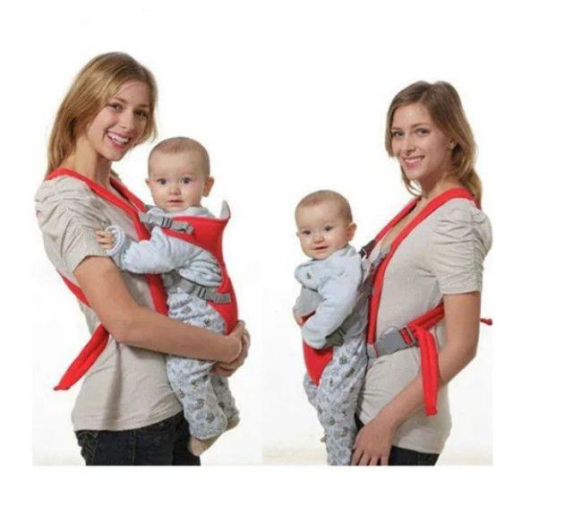 Bolsa Canguru Bebê Leve Alça Almofadada Até 12 Meses 9,5kg - Foto 2