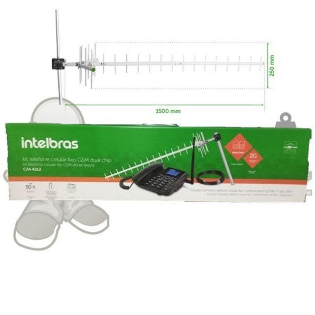 Kit Telefone Rural Intelbras GSM 2 chip em são luis ma - Foto 2