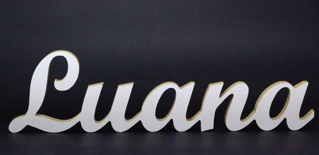 Nome Luana em MDF Laminado Branco - Foto 2