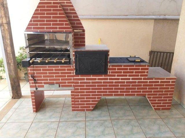 trio caipira churrasqueira fogão a lenha forno
