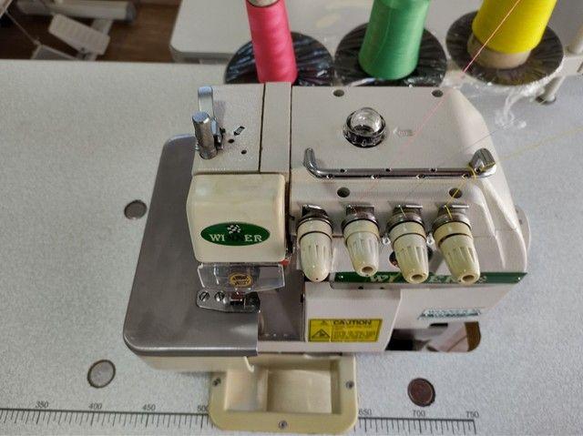 Overlock ponto cadeia máquina de costura - Foto 2