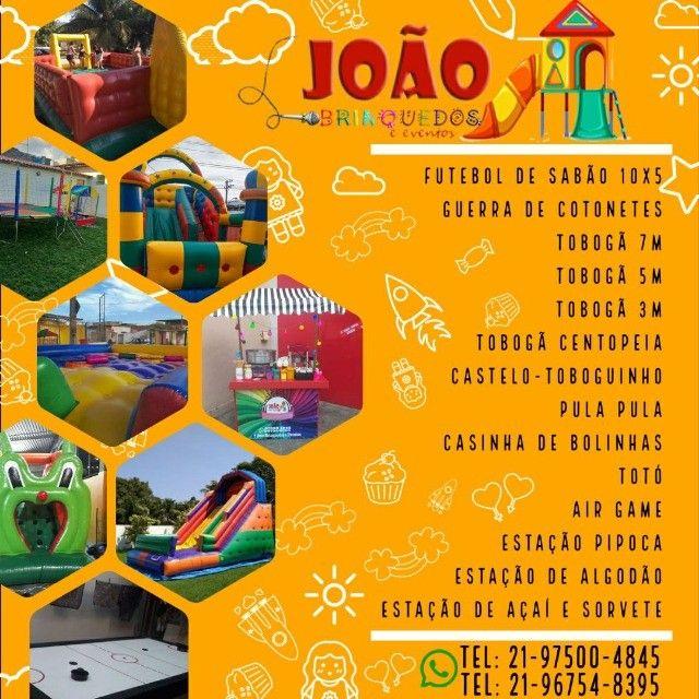 Brinquedos inflavéis, pula pula, tobogã, futebol de sabão e ainda temos vagas para dia 12! - Foto 3