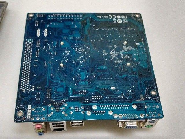 Kit placa mae ECS processador Intel atom e memória DDR3 2GB  - Foto 5