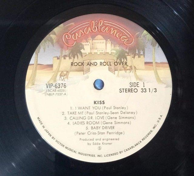 LP Kiss-Rock And Roll Over (1976) Casablanca - VIP-6376 Ed. Japão Vinil - Foto 4